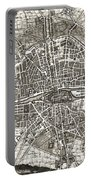 Antique Maps - Old Cartographic Maps - Antique Map Of Paris, France, 1643 Portable Battery Charger