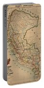Antique Maps - Old Cartographic Maps - Antique Map Of Peru, South America, 1913 Portable Battery Charger
