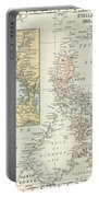 Antique Maps - Old Cartographic Maps - Antique Map Of Philippine Islands And Manila Bay, 1898 Portable Battery Charger