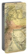 Antique Maps - Old Cartographic Maps - Antique Map Of Syria, 1884 Portable Battery Charger