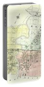 Antique Maps - Old Cartographic Maps - Antique Map Of The City Of Chester, England, 1870 Portable Battery Charger