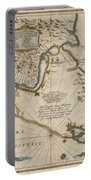 Antique Maps - Old Cartographic Maps - Antique Map Of The Strait Of Magellan, South America, 1635 Portable Battery Charger