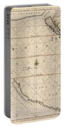 Antique Maps - Old Cartographic Maps - Antique Map Of The Strait Of Magellan, South America, 1650 Portable Battery Charger
