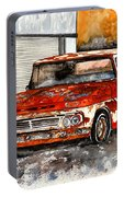 Antique Old Truck Painting Portable Battery Charger