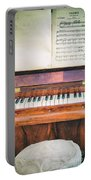 Antique Piano And Music Sheet Portable Battery Charger