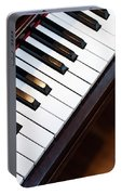 Antique Piano Keys From Above With Hardwood Floor Portable Battery Charger