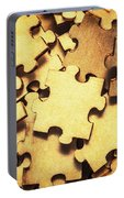 Antique Puzzle Of Missing Links Portable Battery Charger