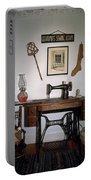 antique Singer sewing machine with treadle Portable Battery Charger