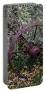 Antique Steel Wagon Wheel Portable Battery Charger