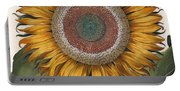 Antique Sunflower Print Portable Battery Charger