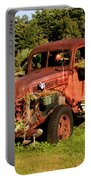 Antique Vehicle As A Planter Portable Battery Charger