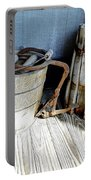 Antique Wooden Buckets Portable Battery Charger