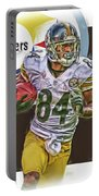 Antonio Brown Pittsburgh Steelers Oil Art 4  Portable Battery Charger
