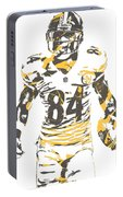 Antonio Brown Pittsburgh Steelers Pixel Art 17 Portable Battery Charger