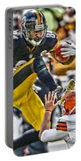 Antonio Brown Steelers Art 5 Portable Battery Charger