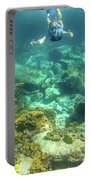 Apnea In Tropical Sea Portable Battery Charger