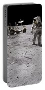 Apollo 16 Astronaut Collects Samples Portable Battery Charger