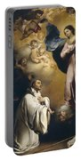 Apparition Of The Virgin To Saint Bernardo  Portable Battery Charger