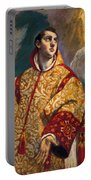 Apparition Of The Virgin To St Lawrence Portable Battery Charger