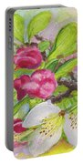 Apple Blossom Buds On A Greeting Card Portable Battery Charger