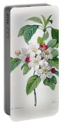 Apple Blossom Portable Battery Charger by Pierre Joseph Redoute