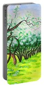 Apple Garden In Blossom Portable Battery Charger