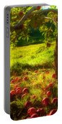 Apple Picking Portable Battery Charger by Joann Vitali