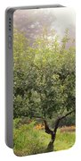 Apple Tree In The Garden Portable Battery Charger