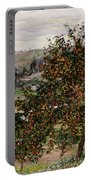 Apple Trees Near Vetheuil Portable Battery Charger by Claude Monet
