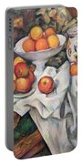 Apples And Oranges Portable Battery Charger by Paul Cezanne