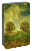 Approaching Storm At Antietam Portable Battery Charger by Lois Bryan