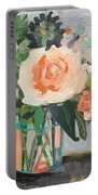 Apricot Rose Portable Battery Charger