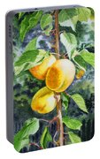 Apricots In The Garden Portable Battery Charger