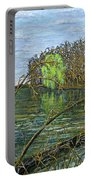 April Willow On Milwaukee River Portable Battery Charger