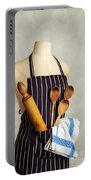 Apron With Utensils Portable Battery Charger