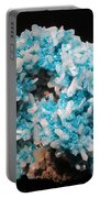 Aqua And White Gemstone Portable Battery Charger