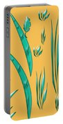 Aqua Design On Gold Portable Battery Charger