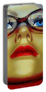 Aqua Eyed Angie Portable Battery Charger
