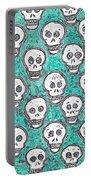Aqua Skull Pattern Portable Battery Charger
