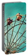 Aquamarine Dream - Ferris Wheel Art Portable Battery Charger