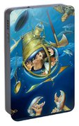 Aquaria Rising From Mask Of The Ancient Mariner Portable Battery Charger
