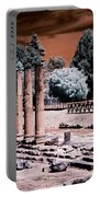 Aquileia, Roman Forum Portable Battery Charger by Helga Novelli