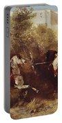 Arab Horsemen Portable Battery Charger by Eugene Fromentin