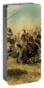 Arab Horsemen On The Attack Portable Battery Charger by Adolf Schreyer