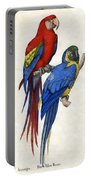 Aracangua And Blue And Yellow Macaw Portable Battery Charger
