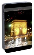 Arc De Triomphe By Bus Tour Greeting Card Poster V1 Portable Battery Charger