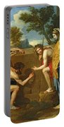 Arcadian Shepherds Portable Battery Charger by Nicolas Poussin