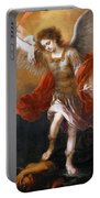 Archangel Michael Hurls The Devil Into The Abyss Portable Battery Charger