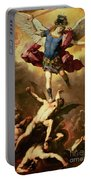 Archangel Michael Overthrows The Rebel Angel Portable Battery Charger