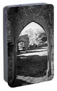 Arched Door At Ballybeg Priory In Buttevant Ireland Portable Battery Charger